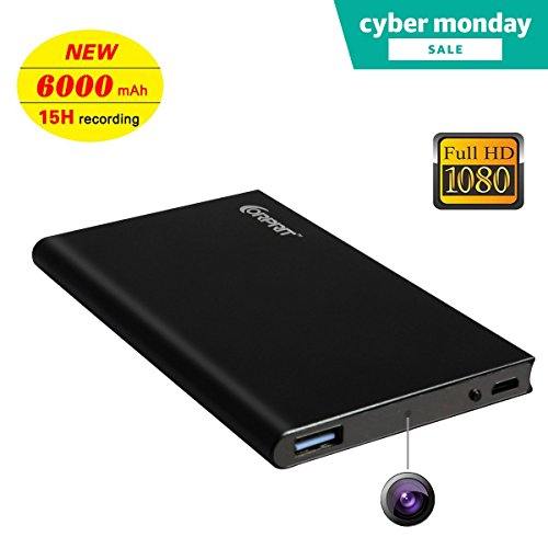 Corprit Hidden Spy Camera HD 1080P 6000mAh Power Bank Portable (Large Image)