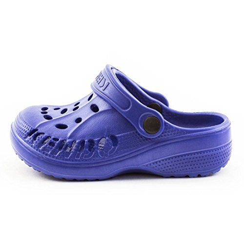 Trendige Unisex Damen Kinder Herren Garten Sommer Wasser Aqua Clogs Schuhe Blau Kids