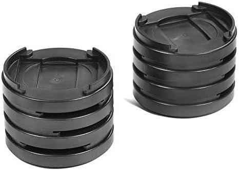 Gototop Juego de 8 piezas de pl/ástico redondo con m/últiples ranuras para sillas elevadores de patas para mesa de escritorio pies de cama antideslizante