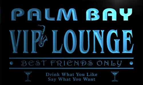 qi2317-b Palm Bay VIP Lounge Club Cocktails Bar Neon Beer Sign