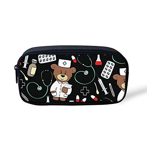 Zippy Louis Organizer Vuitton (Set for Children Pencil Case Bookbag Teenager Boys Cute Bear Printed Backpack Infantil,IR1026K)