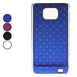 Starry Sky Pattern Hard Case with Diamond for Samsung Galaxy S2 I9100 (Assorted Colors) --- COLOR:Blue