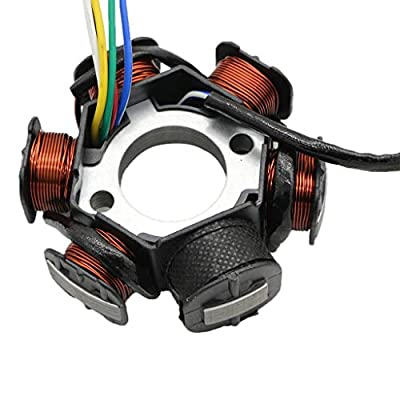 CNCMOTOK Ignition Stator Magneto AC 6 Pole Coil for GY6 125cc 150cc Scooter Moped ATV Dune Buggy Go Kart TAOTAO scooter: Automotive