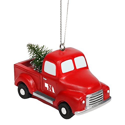 Forever Collectibles Nebraska Cornhuskers Official NCAA Holiday Christmas Ornament Truck With Tree by 517634 by Forever Collectibles