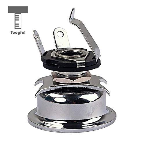 DDV-US - 6.35mm 1/4'' Mono Output Jack Socket Plate for Telecaster Cigar Box Guitar Replacement