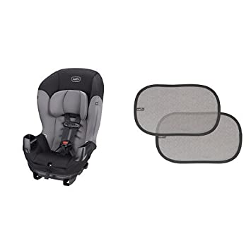 Pleasing Evenflo Sonus Convertible Car Seat Charcoal Sky With 2 Piece Car Window Cling Shades Grey Chevron Gmtry Best Dining Table And Chair Ideas Images Gmtryco