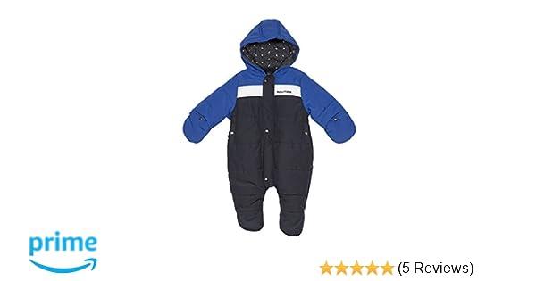 f7bbdc327 Amazon.com: Nautica Baby Boys' Colorblock Snowsuit, Sport Navy 3 Months:  Clothing