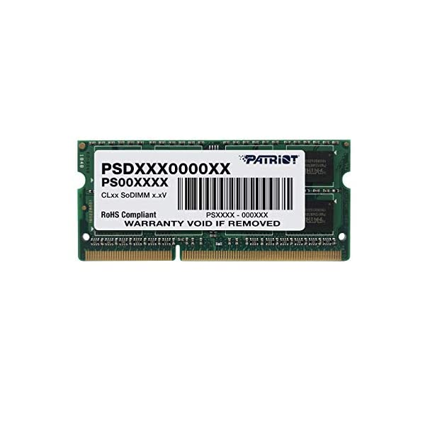 Patriot 1.35V 4GB DDR3 1600MHz PC3-12800 CL11 SODIMM Memory PSD34G1600L2S
