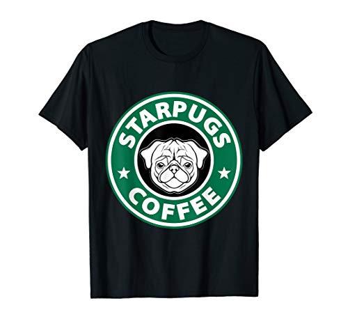 (Funny StarPugs Coffee T Shirt | Pug and Coffee Lovers)