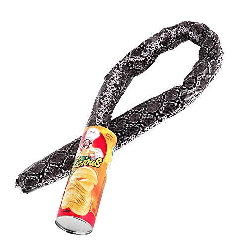 JieYaLa The Potato Chip Snake Can Jump Spring Snake Toy Gift April Fool Day Halloween Party Decoration Jokes in A Can Gag Gift Prank Large Size