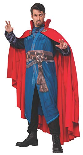 Doctor Costume Men (Rubies Costume Men's Doctor Strange Economy Cloak Of Levitation, Red, One)