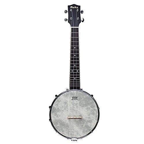 MUKE Concert Banjolele Open Back 4 String Banjo Ukulele 23 Inch Size Banjelele Uke