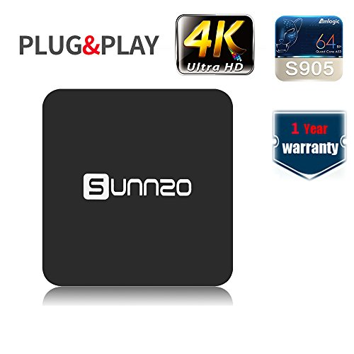 SUNNZO S8 Pro Android 6.0 TV BOX/HD Streaming Media Player w