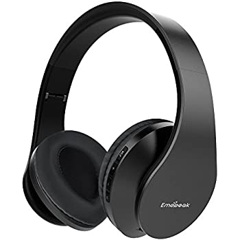 ... Emopeak Hi-Fi Stereo Wireless Headset, Foldable, Soft Memory-Protein Earmuffs, Built-in Microphone and Wired Mode for PC/Cell Phones/TV