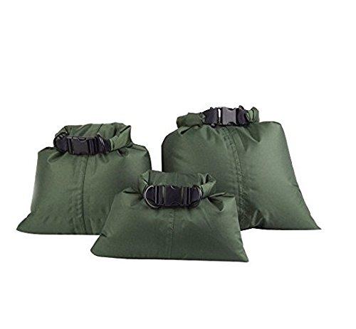 Upper Un Paquete con 3pcs Bolsas Impermeables para Deportes Acuáticos Bolsas a Prueba de Agua (Ejército Verde)