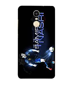 ColorKing Football Samir France 01 Black shell case cover for Xiaomi Redmi Note 4