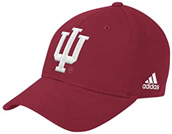 NCAA Indiana Hoosiers Structured Adjustable Hat, One Size Fits All, Red