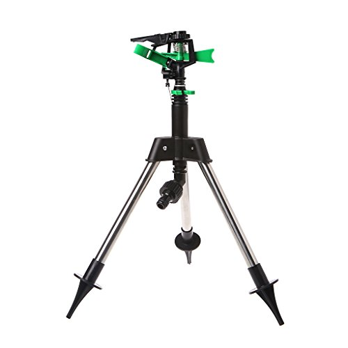 - oukery Stainless Steel Tripod, Garden Watering Sprinkler Stainless Steel Tripod Plants Water Irrigation Tools
