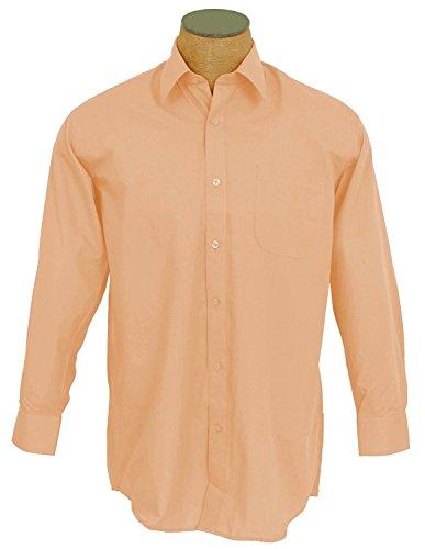 Sunrise Outlet Boys Solid Color Cotton Blend Dress Shirt - Peach Size 10