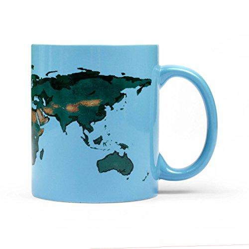 Thumbsup UK, GLOWRMUG Gobal Warming Coffee Mug, Blue