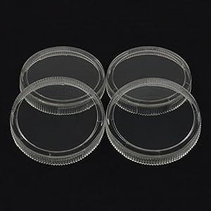 2″ Replacement Clear Regulator Gauge Lens/Cover, 1/4 Turn Twist Lock, 4 Lenses