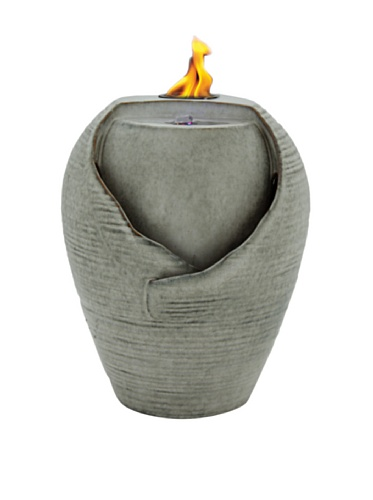 Pacific Décor Kyoto LED Flame Fountain, 12 by 12 by 16-Inch, Sand by Pacific Décor