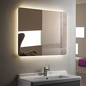 Lighted Image LED Backlit Mirror  amazoncom