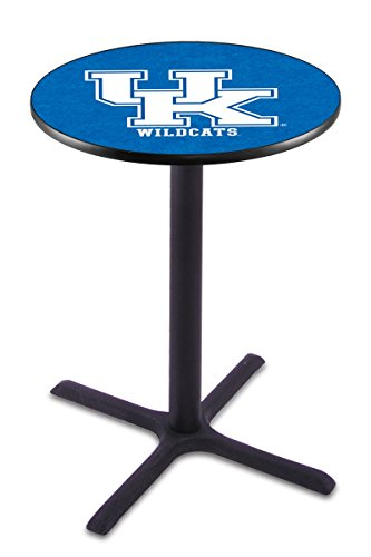 "Holland Bar Stool L211B University Kentucky UK Logo Officially Licensed Pub Table, 28"" x 36"", Black"