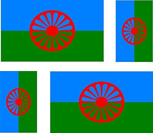 Akacha - Adhesivos con la bandera del pueblo gitano - Juego ...