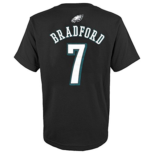 OuterStuff Sam Bradford NFL Philadelphia Eagles Teal Mainliner Jersey T-Shirt Youth
