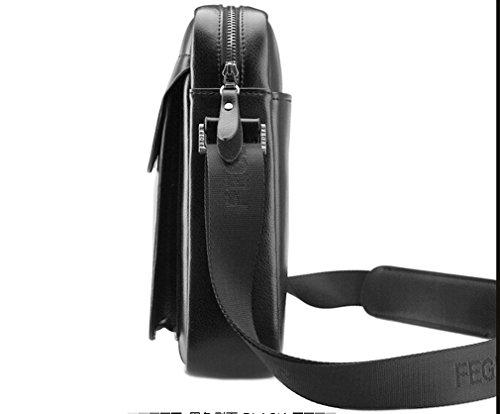 sulandy @ Hombres de la piel y de piel sintética bolso bandolera maletín bolsa café nuevo black22