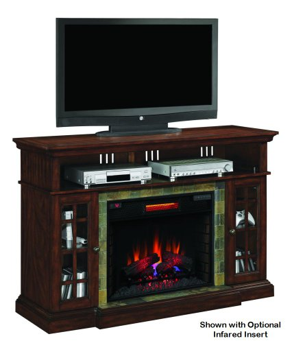Lakeland Cherry Infrared TV Stand Electric Fireplace 28MM6307-C270