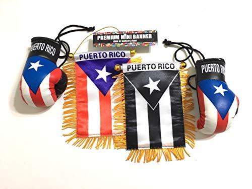 (Puerto Rico Boxing Gloves Puerto Rico car Flag)