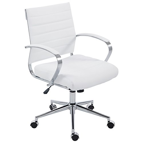 UPC 672168577528, Poly and Bark Tremaine Office Chair in Vegan Leather, White