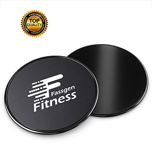 Celebrita 2 Packs of Gliding Discs Core Sliders Ab, Back, Hip, and Leg Exercise Gear for Gym, Home, Yoga, Pilates Strengthen Abdominals, Burn Fat, Improve Balance