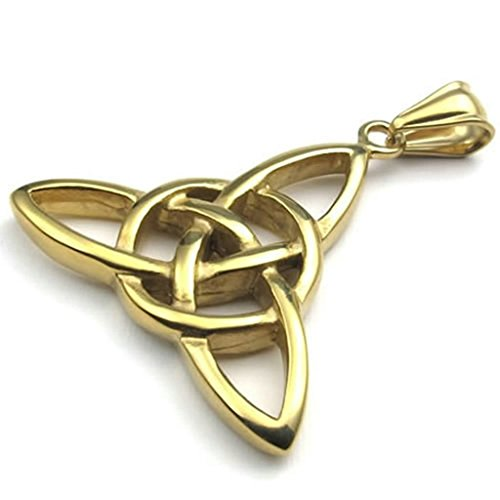 Gay Star Wars Costumes (Daesar Stainless Steel Necklaces Mens Women Pendant Necklace Gold Celtic Knot Amulet 18-26