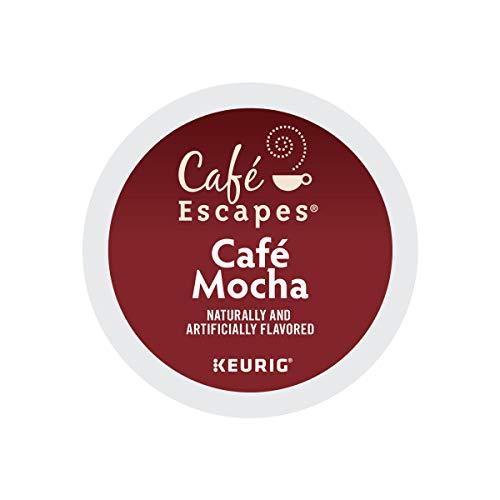 Cafe Escapes, Cafe Mocha Coffee Beverage, Single-Serve Keurig K-Cup Pods, 96 Count (4 Boxes of 24 Pods) by Caf Escapes