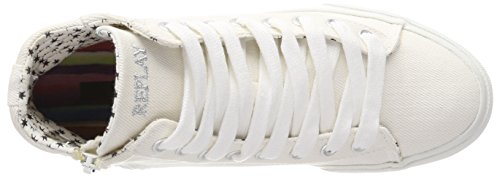 Replay Femme Blanc Off Wht Hautes Edna Baskets aOq6wrRaU