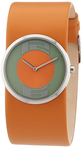 Jacques Lemans DC-513 - Women's Wristwatch, Leather, color: arancio