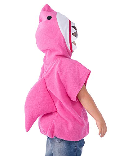 Coskidz Childrens' Shark Costume Halloween Multicolor Hoodie (S, Pink)]()