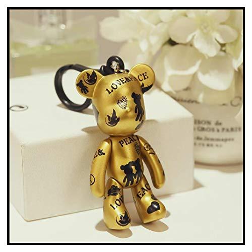 In Box Bomgom Cartoon Popobe Gloomy Bear Momo Vinyl plasitc Keychain Key Chain Bag Ornaments Pendant Kids Toys Doll Keyring Fo-K049-b ()