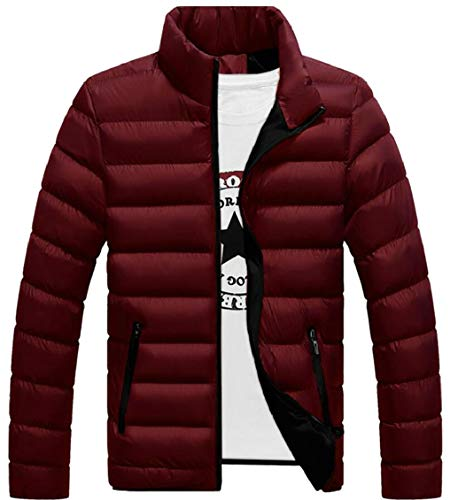 Collar Stand 2 Gocgt Men Quilted Coat Lightweight Jacket Puffer Packable Down tqtHEvRw1