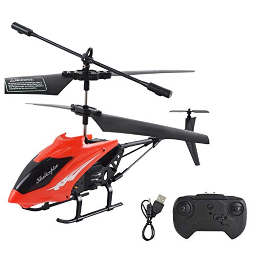CreazyBee Mini RC Infrared Induction Remote Control RC Toy 2.5CH Gyro Helicopter RC Drone (Red)