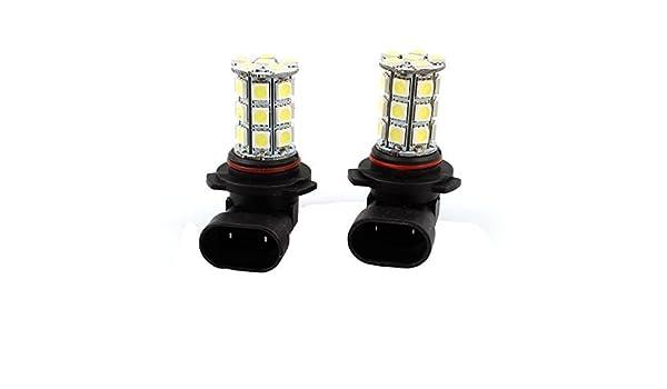 Amazon.com: Autos 9006 HB4 5050 SMD 27 LED Blanco luz de la cabeza Durante el día de la lámpara del bulbo DE 2 PC: Automotive