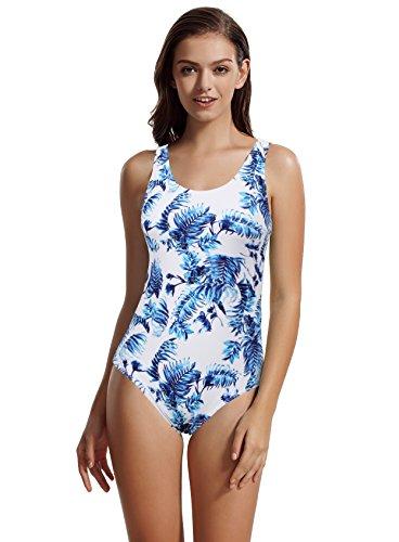zeraca Women's Sport Racerback One Piece Swimsuit Swimwear L14 Greece - Piece Bathing One Sport Suits