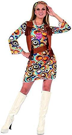 Disfraz hippie mujer S: Amazon.es: Juguetes y juegos