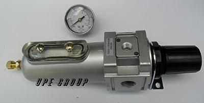 "Air Pressure Regulator & Filter Combo compressor 1/2"" & gauge clean compressed air system regulate pressure moisture from THB"