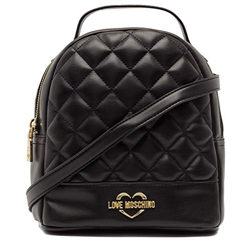 oro Moschino Nappa Women's Black Backpack Quilted nero Pu Borsa Gal Handbag Love 7Pf1qwP