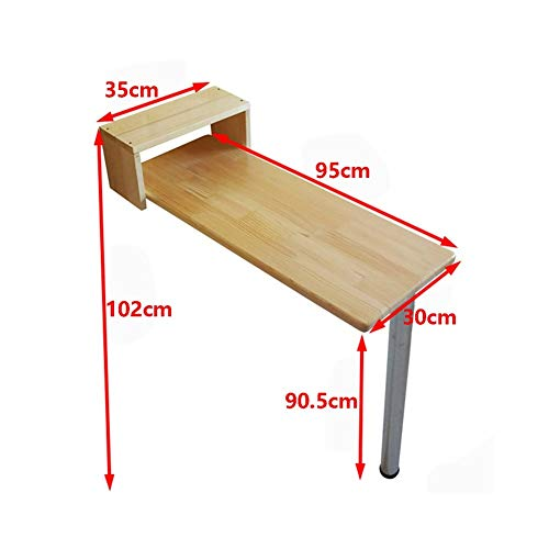 - AJZGF Workspace Organizer Folding Table bar Table, American Small Apartment bar Table, Wood Color Dining Table, (Size : 9530cm)