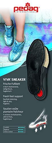 Pedag Viva Sneaker Warm Weather Orthotic with Semi Rigid Arch, Met and Heel Pad, Black, W12/M9/EU42